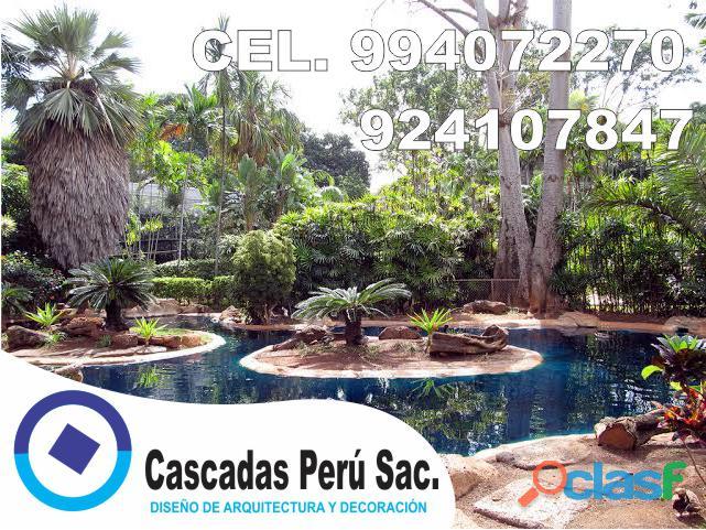 estanques naturales para jardín, cascadas para peces, cascadas artificiales 17
