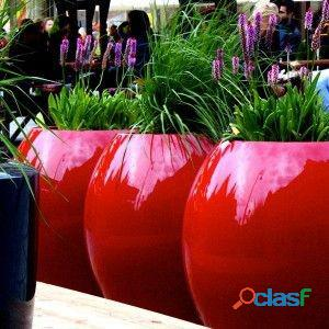 macetas decorativas, macetas decorativas para interiores, macetas de fibra de vidrio 12
