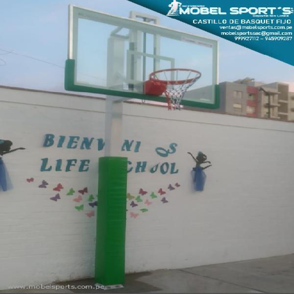 Castillo de basquet fijo