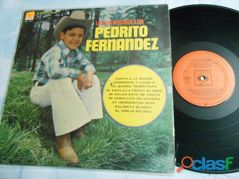 LP Pedrito Fernandez La de la mochila azul 1979 solo para coleccionistas