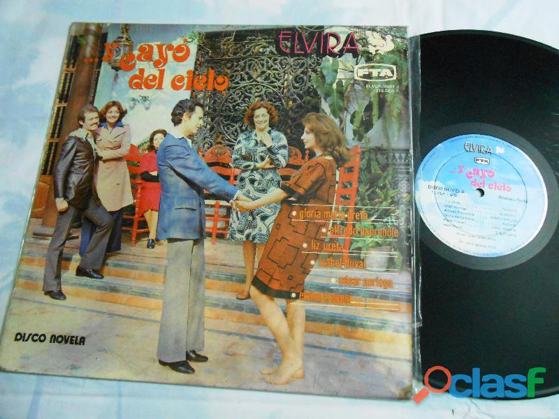 Lp y cayo del cielo Disco novela peruana 1976 raro de coleccion