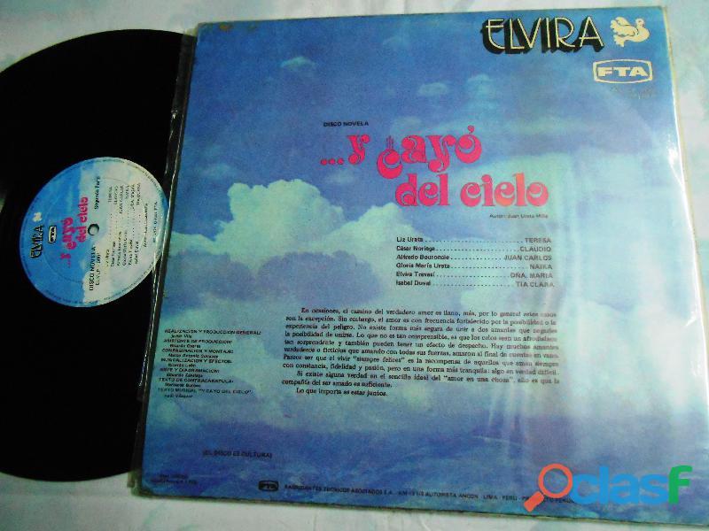 Lp y cayo del cielo Disco novela peruana 1976 raro de coleccion 1