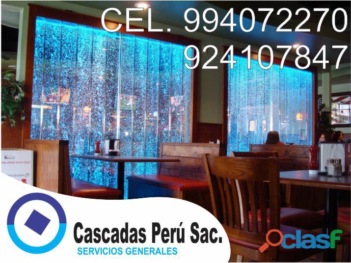 cascadas de agua artificiales,panel de burbujas led,velo de agua,piletas de agua, muro llorón, 1