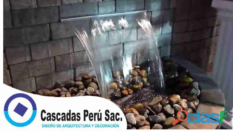 Velos de agua, cascadas artificiales, muro llorón, caída de agua, piletas de agua