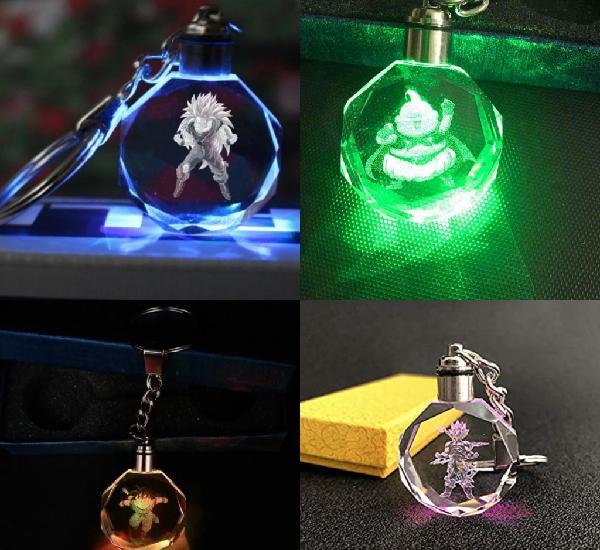 Llavero/colgante dragon ball con luces led