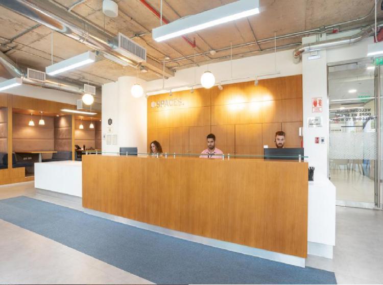 Alquiler oficina privadas 100 implementada en san isidro