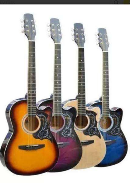 Guitarra acustica importada version mejorada con varilla de