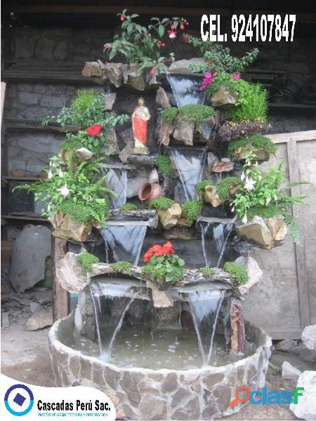 Cascadas artificiales, muro llorón, caída de agua, piletas de agua, velos de agua
