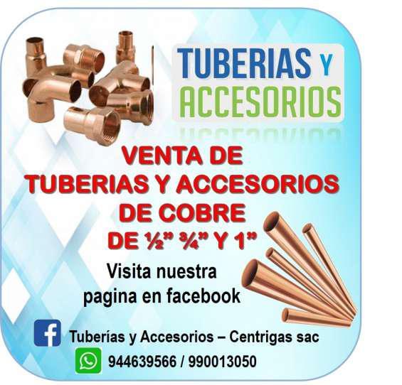 Tubería y accesorios de cobre para inst. de gas en lima