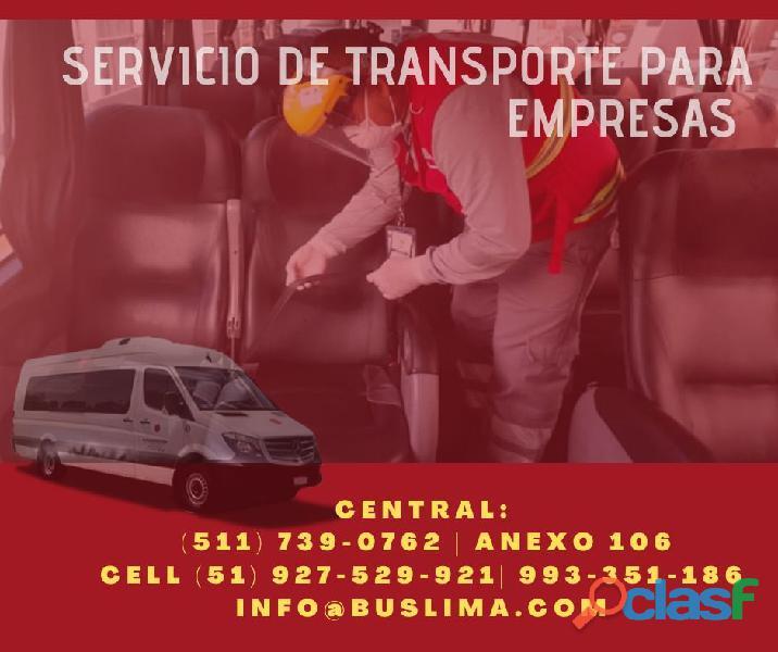 Alquiler de unidades de transporte de personal para empresas en Lima . Perú   Lima