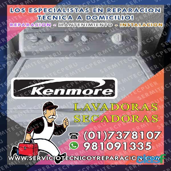 Kenmore| Reparación de Centro de Lavado >>7378107 en Barranco