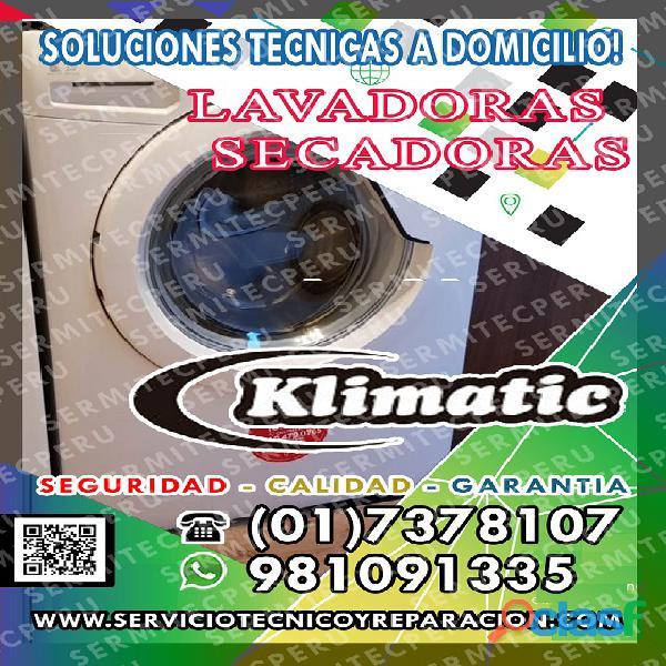 ¿Problema con su Lavadora Klimatic? Técnicos En Puente Piedra|7378107