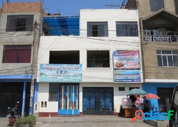 Casa comercial en venta 3 pisos 200 m2 urb virgen del carmen - ate