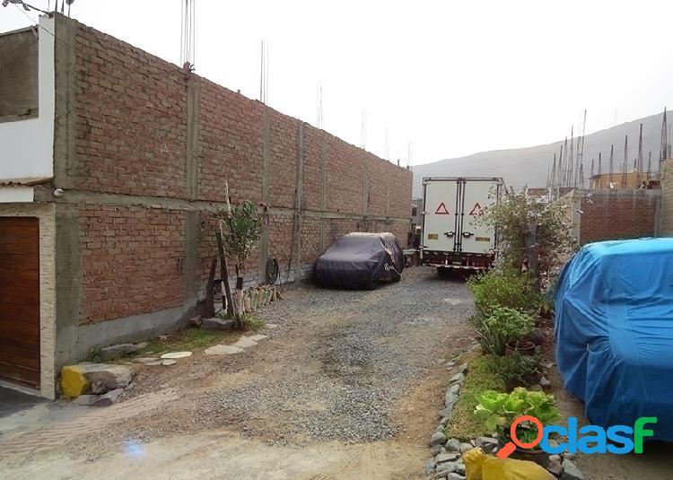 Terreno en venta 122 m2 terrazas de caraponguillo - lurigancho