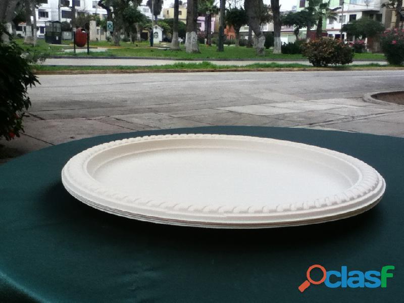 Biodegradables ecológicos descartables para alimentos con certificación FDA Lima Perú