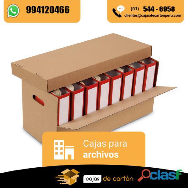 Cajas de carton para oficina y mudanzas