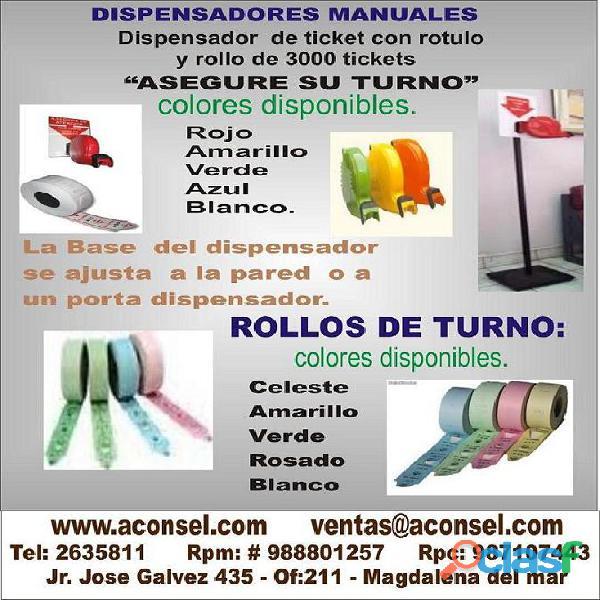 Pantalla turno modulo con displays