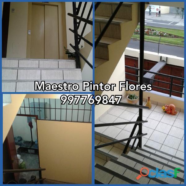 Pintado de Escaleras y áreas comunes. S/3 el m2