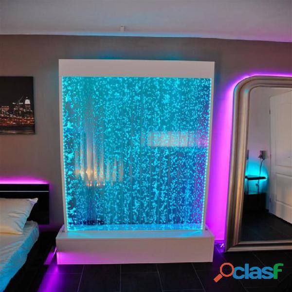 Cortina de agua, luz led sumergible, panel de burbujas, jardín vertical