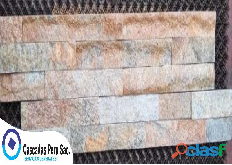 Piedra importada, fuentes de agua, fachaleta de concreto, barandas de acero