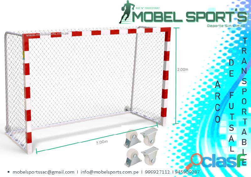 Porteria de futbol movible  mobel sports