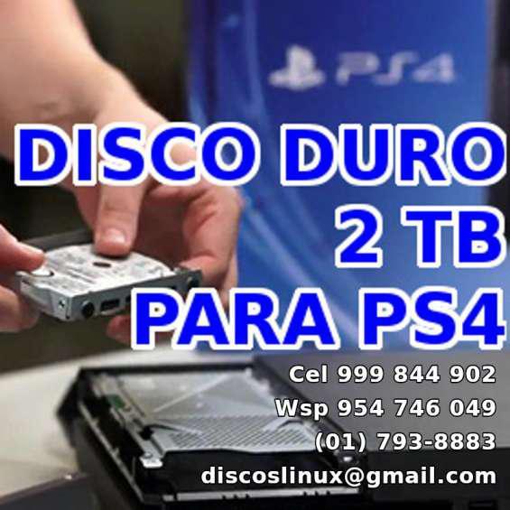 Disco duro 2tb para ps4 pro ps4 slim o fat, lince y los