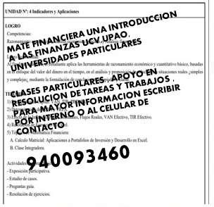 MATE FINANCIERA UNA INTRODUCCION A LAS FINANZAS UCV,UPAO,