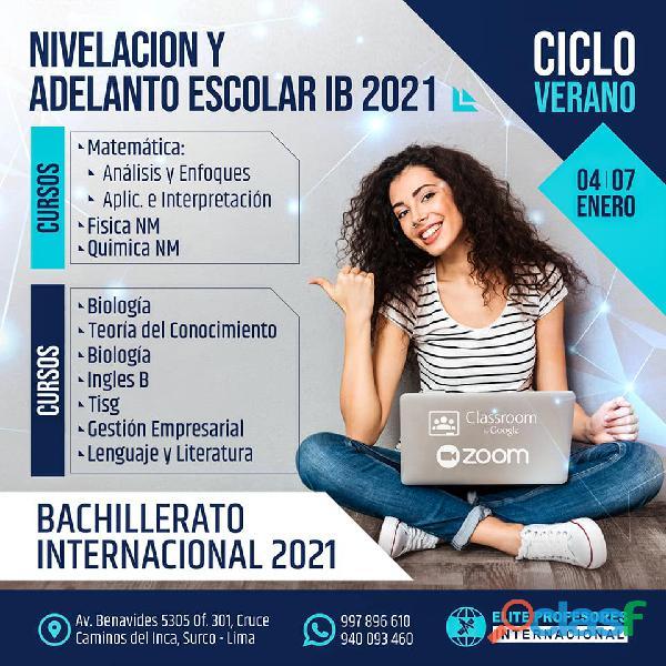 CICLO VERANO IB BACHILLERATO INTERNACIONAL 2021