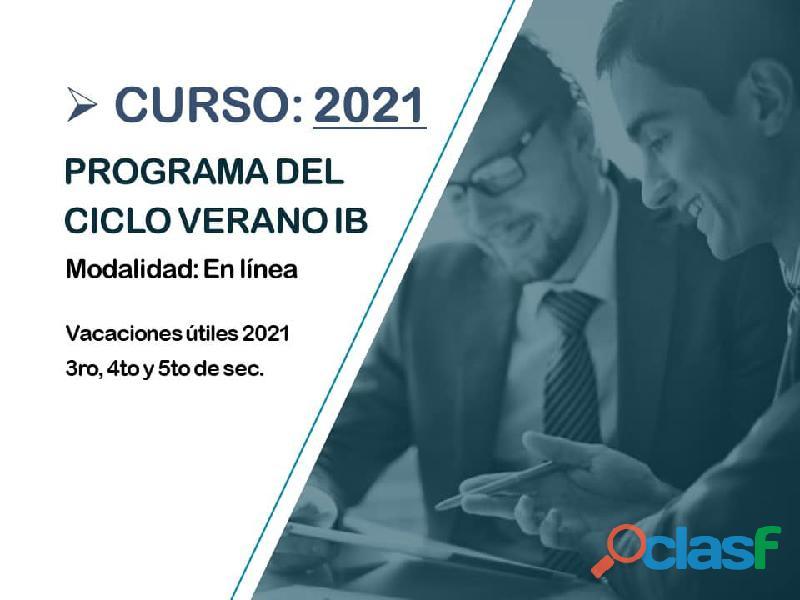 CICLO VERANO IB BACHILLERATO INTERNACIONAL 2021 2