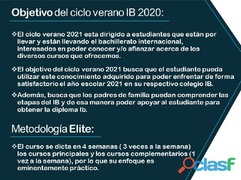 CICLO VERANO IB BACHILLERATO INTERNACIONAL 2021 3