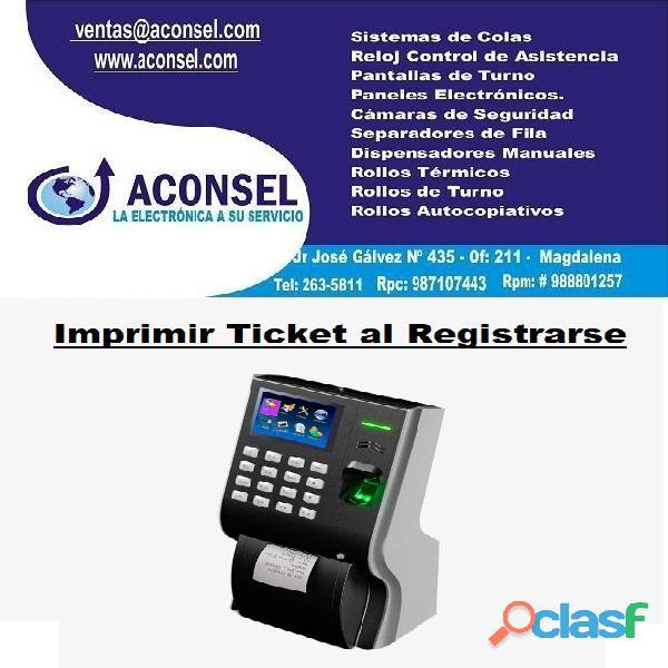 Imprimir ticket al registrarse