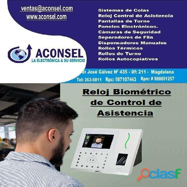 Reloj biométrico de control de asistencia