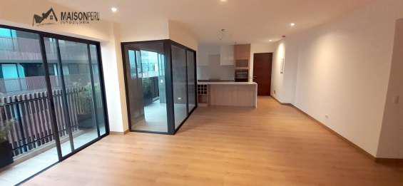 Departamento estreno 2 dormitoiros 120 m2 miraflores (ref: