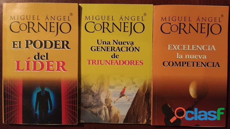 Vendo pequeña colección de libros de miguel ángel cornejo