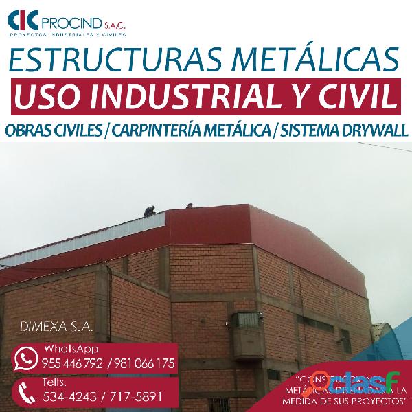 Estructuras metalicas techos   precio lima