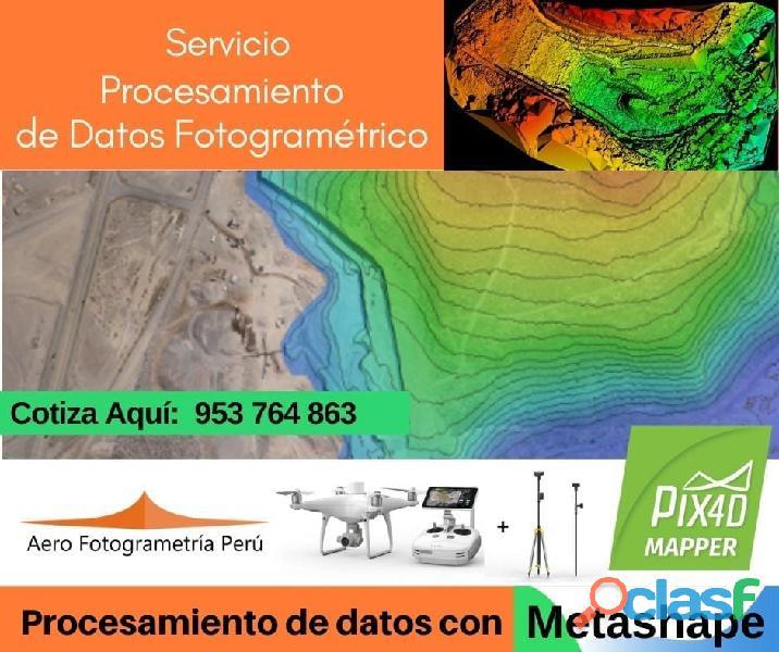 ¿necesitas realizar procesamiento de datos fotogramétricos ?