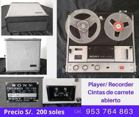 Vendo player/recorder cintas de carrete abierto en lima