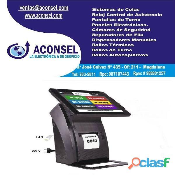 Dispensador de Turnos Electrónico tipo TouchScreen
