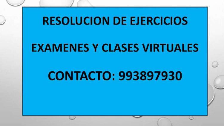 Resolucion de ejercicios examenes y clases virtuales