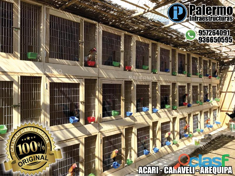 jaulas desarmables para gallos en lima