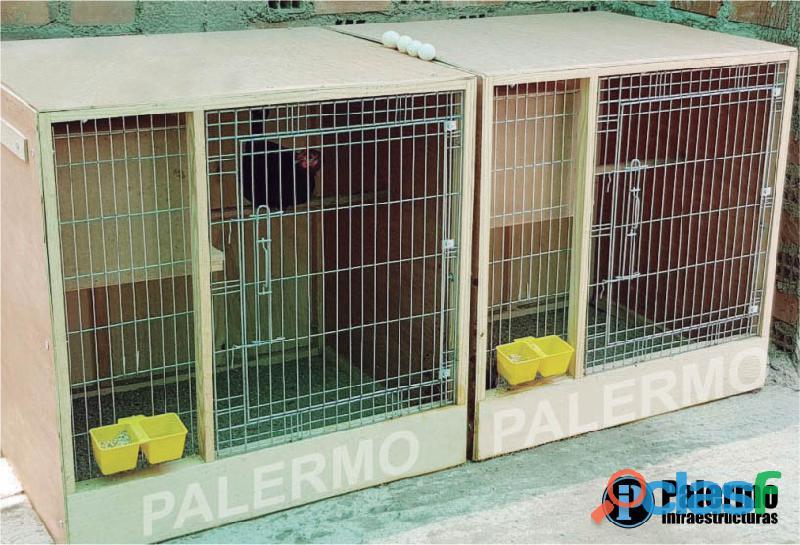 jaulas desarmables para gallos