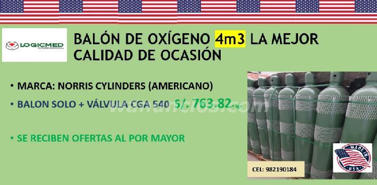 Balones de oxigeno de 10m3, 8m3, 6m3 y 4m3 americano de ocas