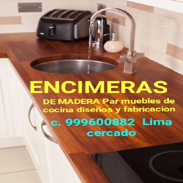 Encimera para muebles cocina barras bar fabricación