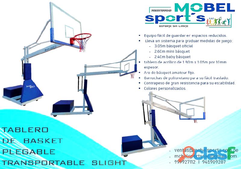 Canasta de baloncesto para competencias profesionales plegable slight