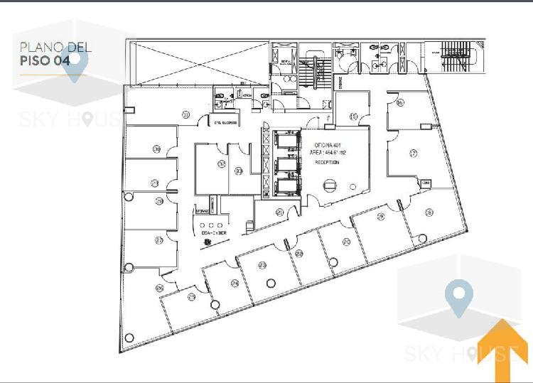 Alquiler oficinas prime san isidro empresarial 464m2