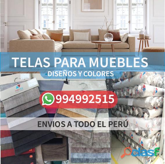 Variedad de diseños y colores de tela para muebles