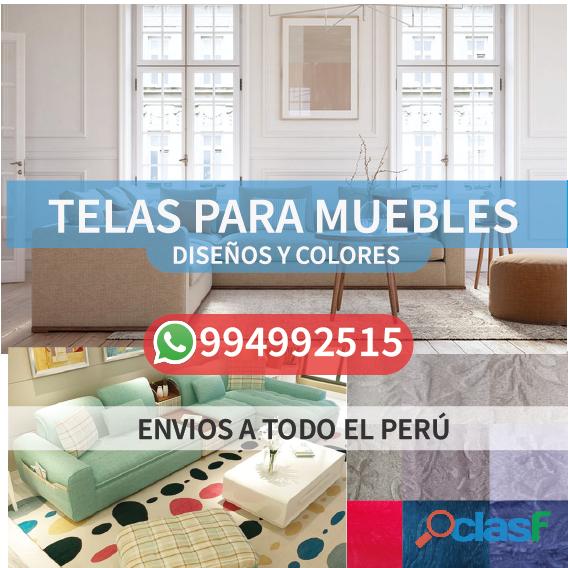 Tela para tapizar muebles diversos diseños