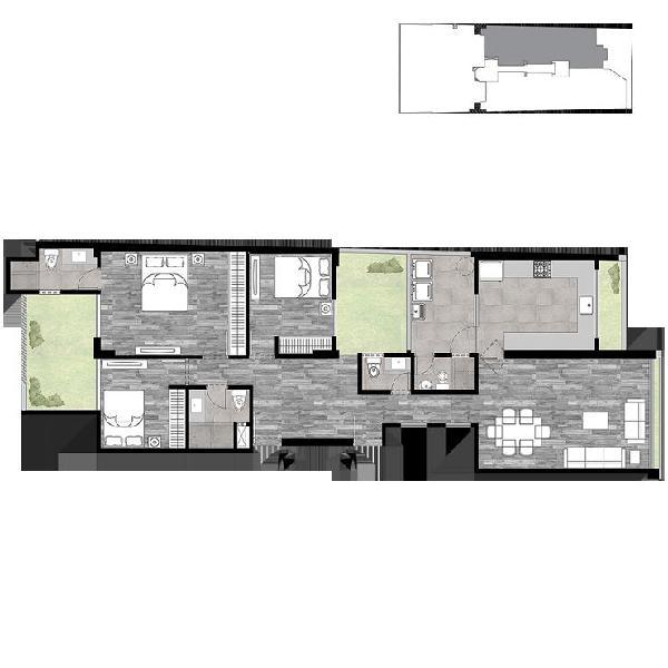 Departamento primer piso con terraza de estreno en