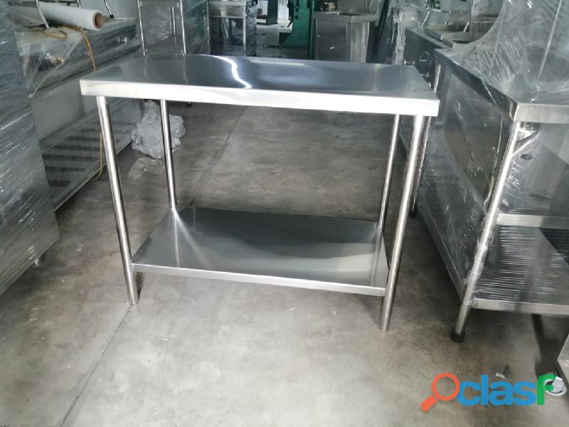 Mesa coches transportador de acero inoxidable para laboratorios gastroinox