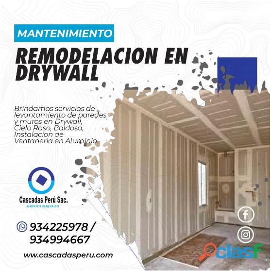 ESTRUCTURAS METALICAS   CONSTRUCCION DE DRYWALL – ASFALTADO – CERCO PERIMETRICO 2